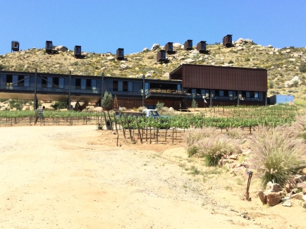 Winery with cabins on the hill.
