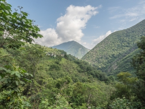 I took this leaning out of the car window near Cascada de Chuveje