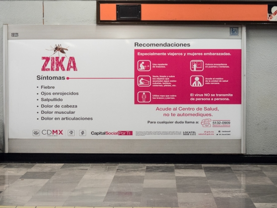 Zika information in the Metro. The Metro cars have rubber tires and run on two flat tracks. The ride is much quieter than on BART.