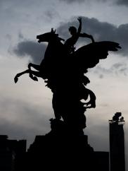 Pegasus sculpture by Spanish sculptor Agusti Querol Subirats.