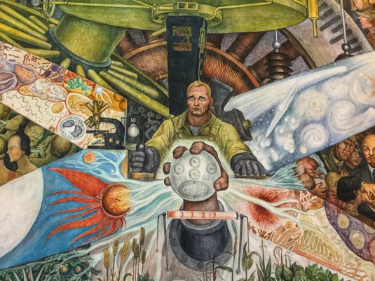 Detail from Man, Controller of the Universe by Diego Rivera
