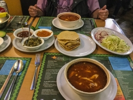 Pozole for lunch