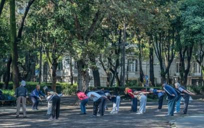 Exercise class in Plz. Rio de Janeiro
