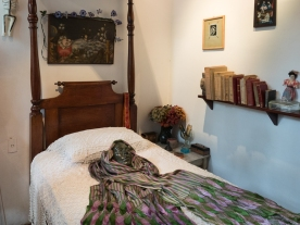 "Frida's bedroom and her ""death mask."""