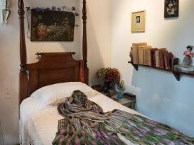 "Frida's bedroom and her ""death mask."""