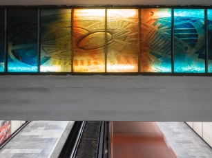 Art in a Metro station