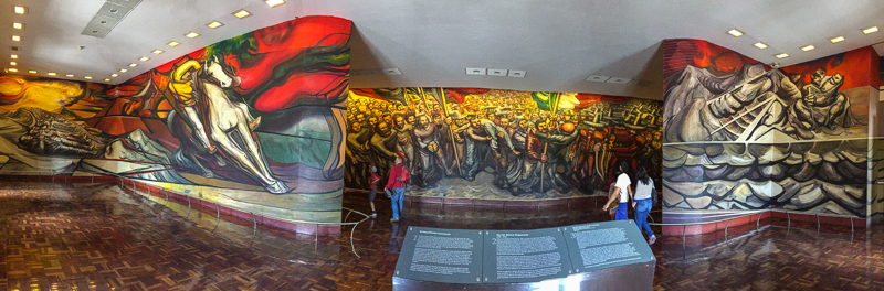Chapultepec Castle - The mural was painted by David Alfaro Siqueiros was hombre who tried to assassinate Trotsky.