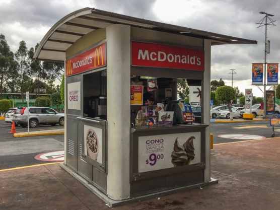 World's Smallest McDonalds? Outside a Walmart in Mexico City.