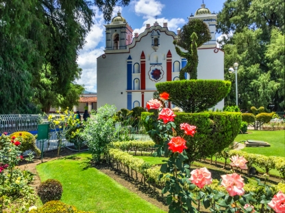 A church in Santa Maria del Tule