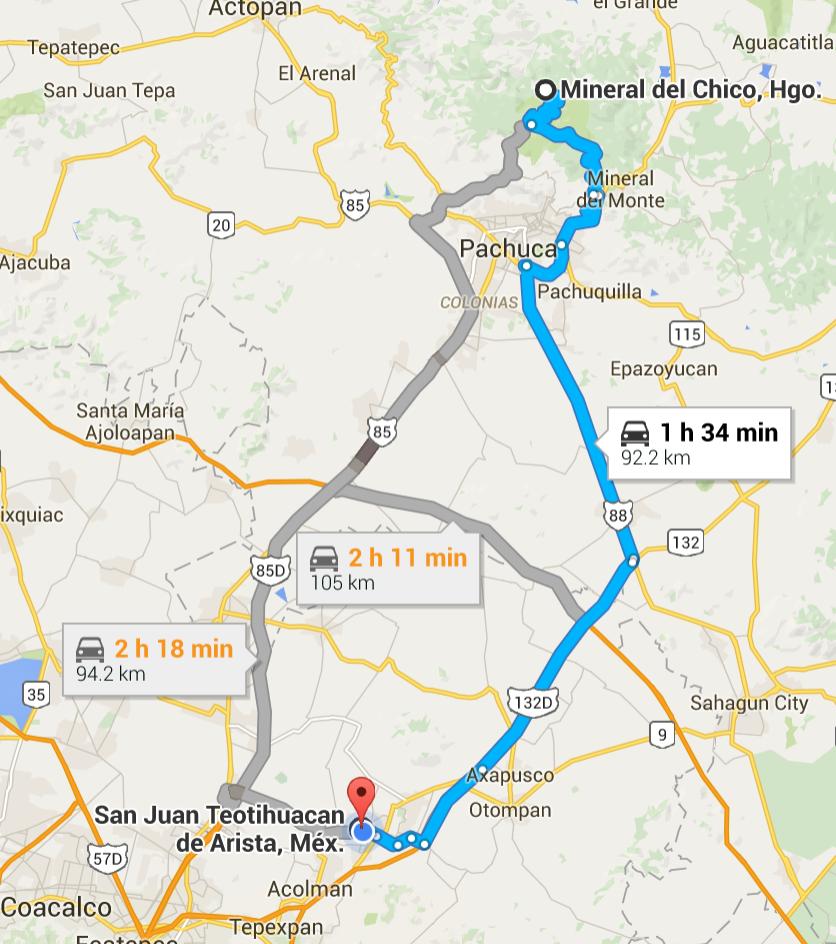 mexico to san juan teotihuacan de arista mexico google maps