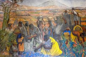 Detail, Rudolfo Morelos Mural