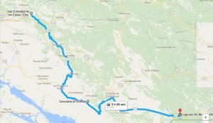 San Cristobal de las Casas to Lagunas De Montebello   Google Maps