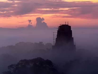 Tikal Sunrise from Temple IV