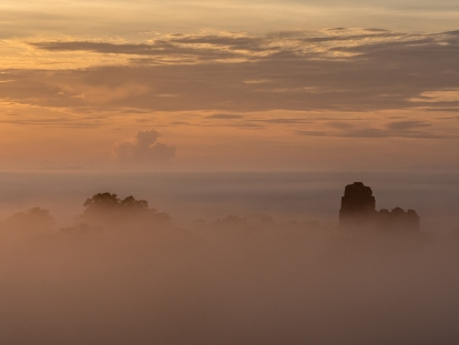 Tikal Sunrise from Temle IV