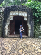 Chris at the entrance to the Copan Museo