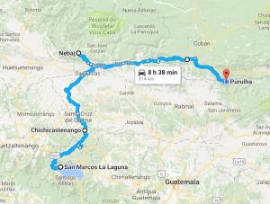 san-marcos-la-laguna-guatemala-to-purulha-guatemala-google-maps