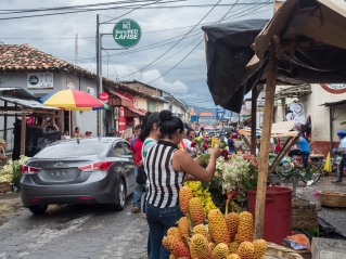 Street market. First photo in Nicaragua.