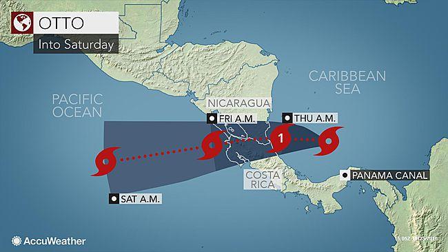 Hurricane Otto Track