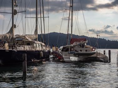 Golfito: Sailboats at the Banana Bay Marina