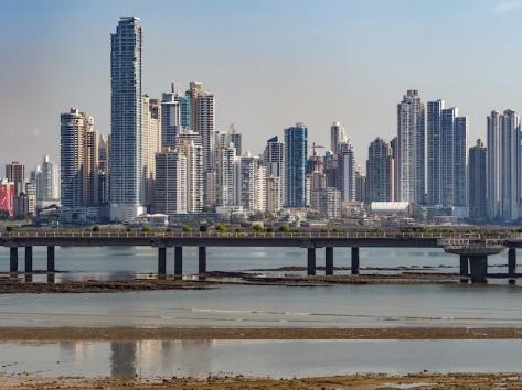 Panama City Skyline from Casca Viejo, the colonial city.