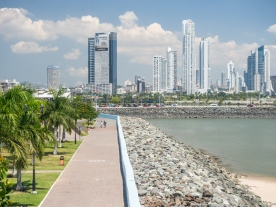 Panama City - Skyline from Casco Viejo