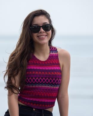Panama City - Pretty girl posing at the waterfront