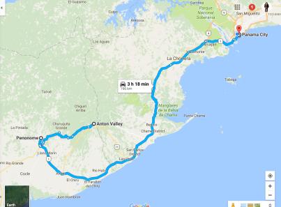 anton-valley-to-panama-city-panama-google-maps