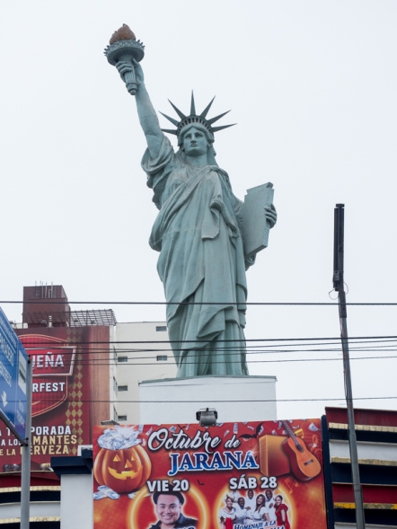 Statue of Liberty at the New York Casino in Lima, Peru.